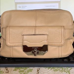 B. Makowsky glove leather crossbody bag beige